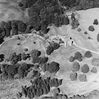 Monzie Castle, oblique aerial view, taken from the S.