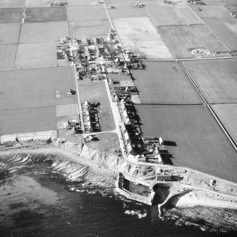 Aerial photograph showing village and harbour