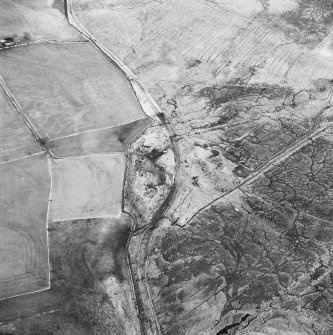 Haywood Colliery and Greenbank, oblique aerial view, taken from the W, showing Haywood coal mine with adjoining railway in the centre of the photograph, and an area of rig at Greenbank in the top right-hand corner.