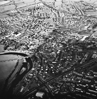 Annan, oblique aerial view, taken from the SSW.