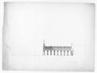 Photographic copy of section through Nave of Holyrood Abbey looking South. u.s.   u.d.