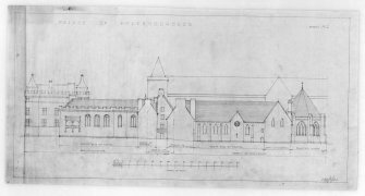 Photographic copy of proposed Restoration of South Elevation of Holyrood Abbey and Conventual Buildings u.s.   u.d.