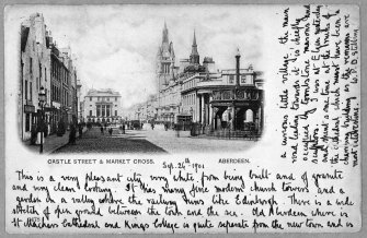 Aberdeen, Castle Street. Photographic copy of general postcard view.