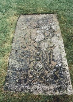 Detail of grave slab.