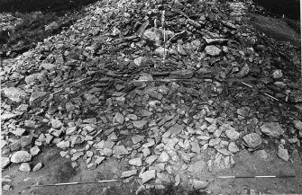 SW forecourt with the blocking in situ as found after Corcoran's 1971-1973 excavation.