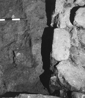 Excavation photograph. Detail of trench. October 1979.