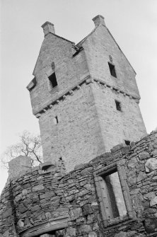 View of tower, Mains Castle, Caird Park, Dundee.