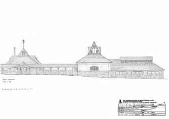 Rosehaugh House Dairy: South elevation