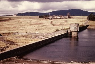 General view, looking north west.  Reused 19th-century dam (Foyers Scheme)