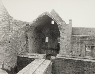 Hermitage Castle.  Various Views of Stonework in South Face of the North Wall (AM/ARCH CH 8/85)