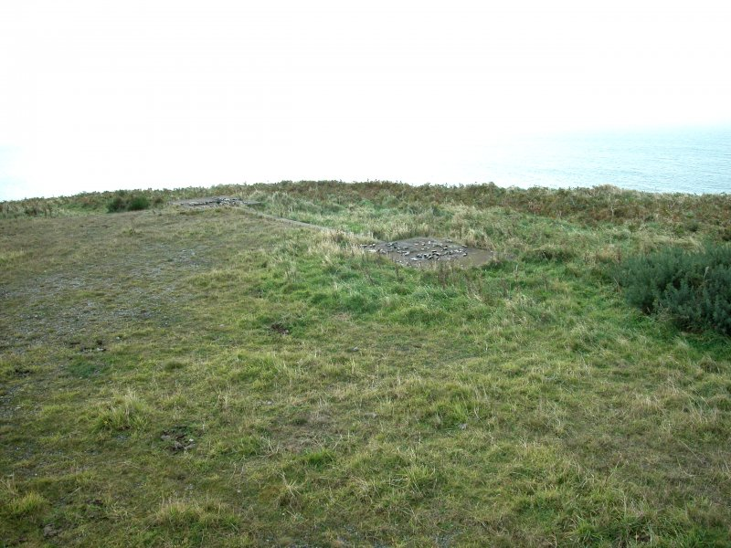 View of base for overhead gantry target base (E) from the NW