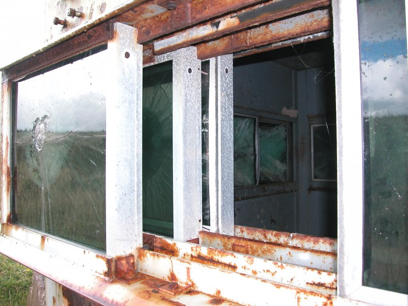 Detail of window arrangement in bomb testing observation hut