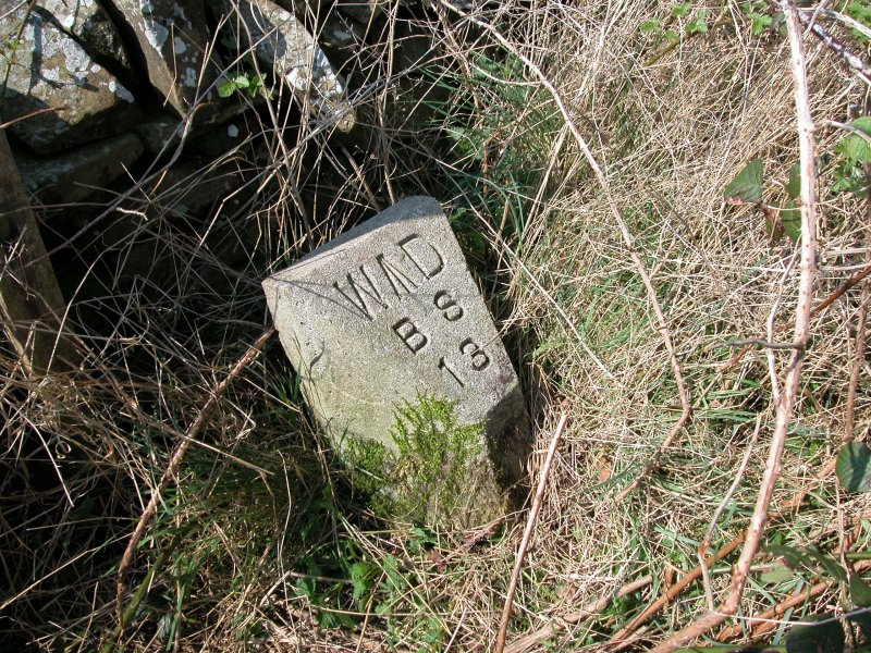 View of boundary stone