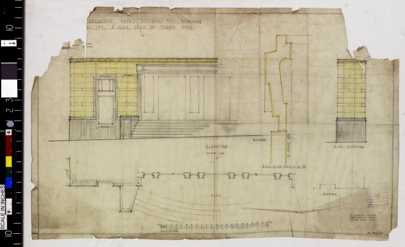 Plan and elevations showing detail of faience work.