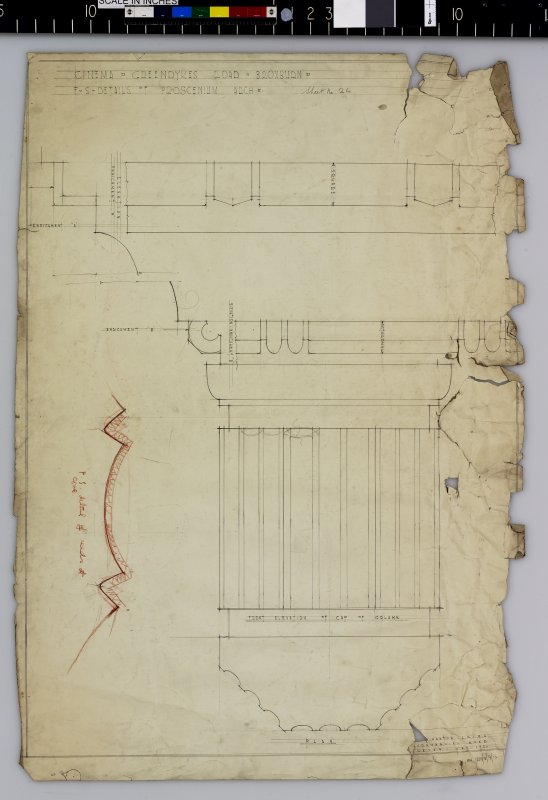 Plan and elevation of column and cove.