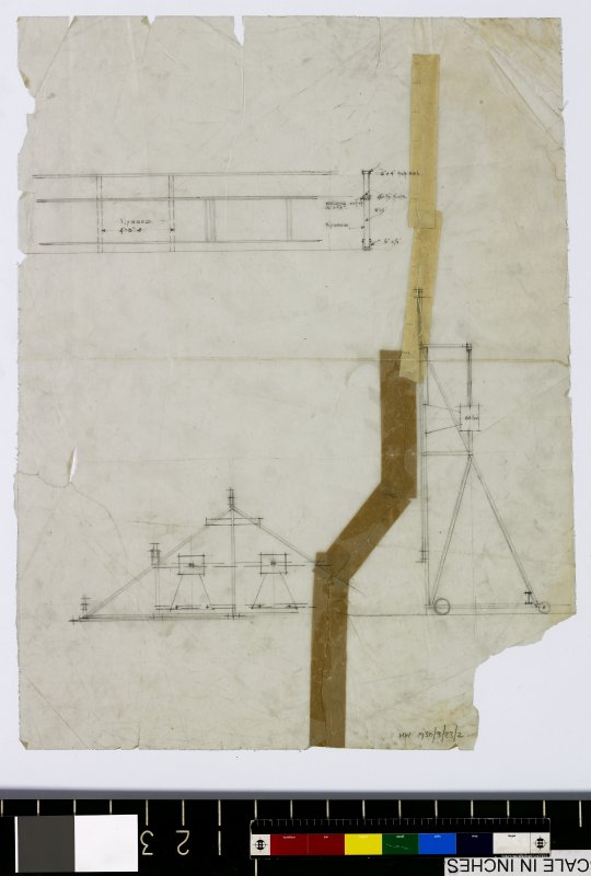 Plan and section of roof.