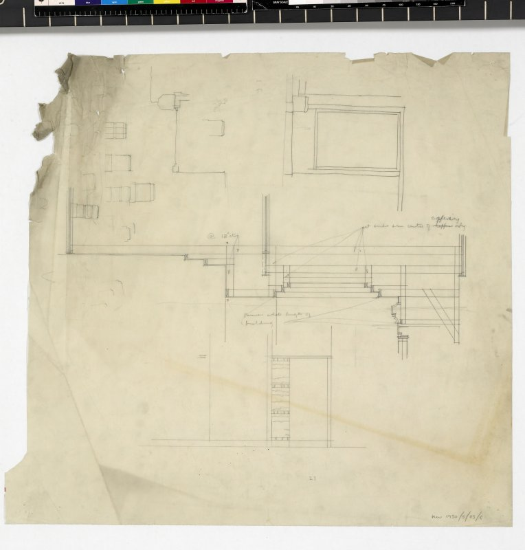 Sketches and sections.