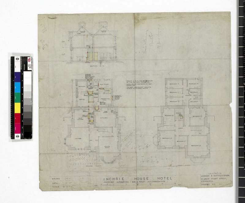 Floor plan showing proposed alterations.