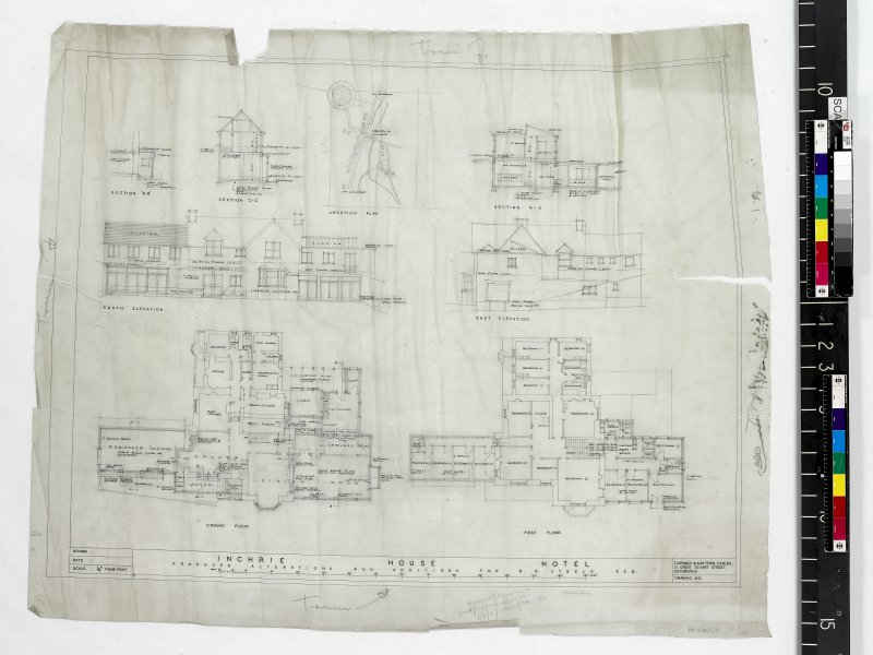 Plans, sections and elevations.