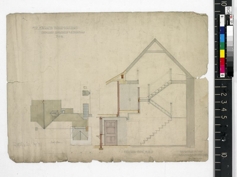 Roof plan and section.