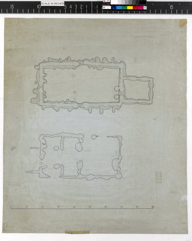 Untitled plan of timber halls.