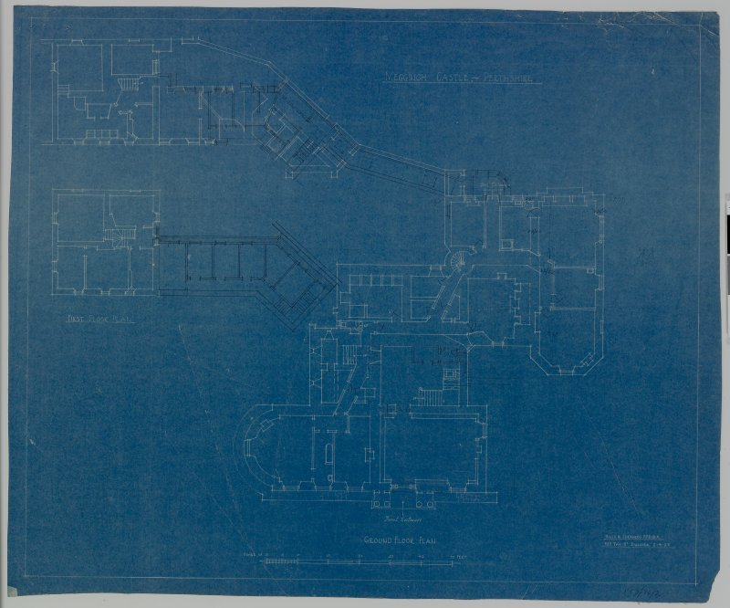 "Megginch Castle. Digital image of ground floor plan. Insc: ""Megginch Castle, Perthshire, Ground floor plan"""