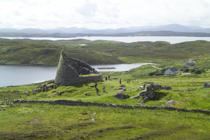 View of Dun Carloway broch, Lewis, from N.