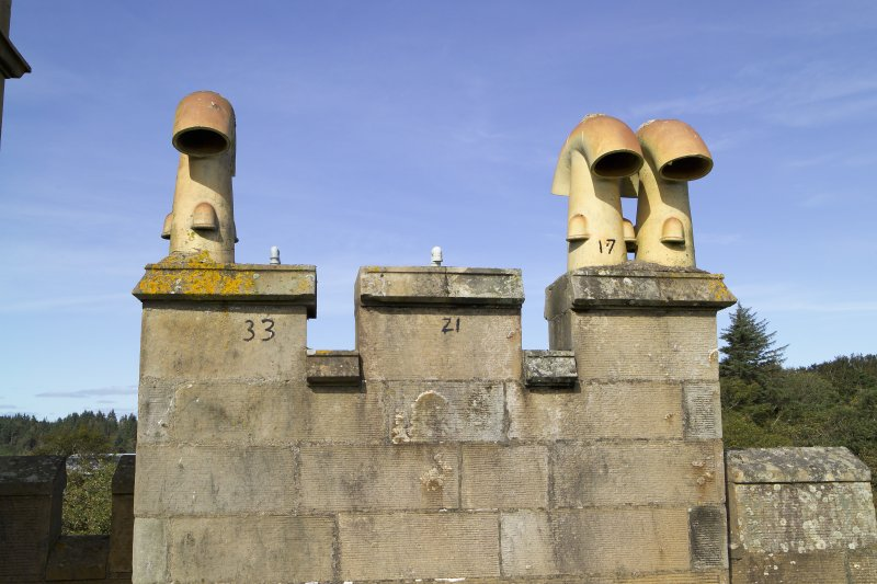 View of chimney pots