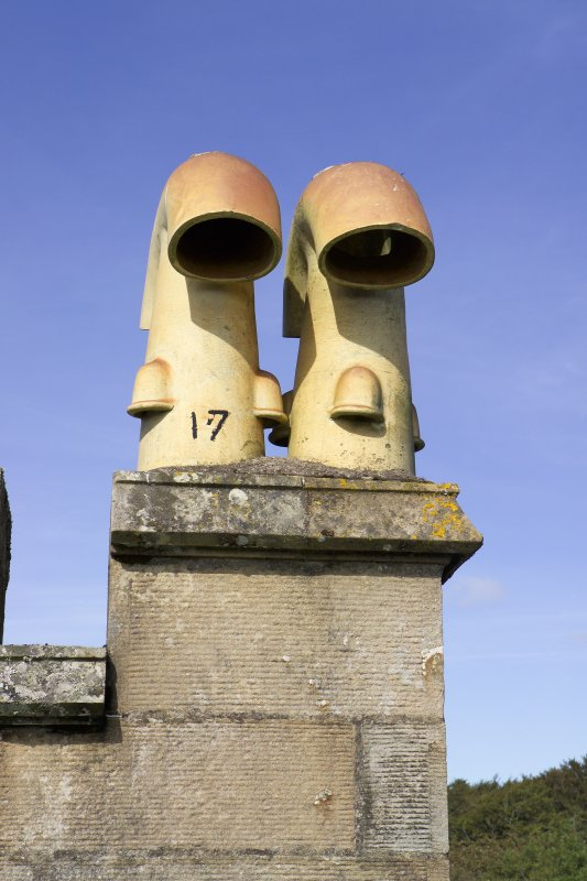 Detail of chimney pots