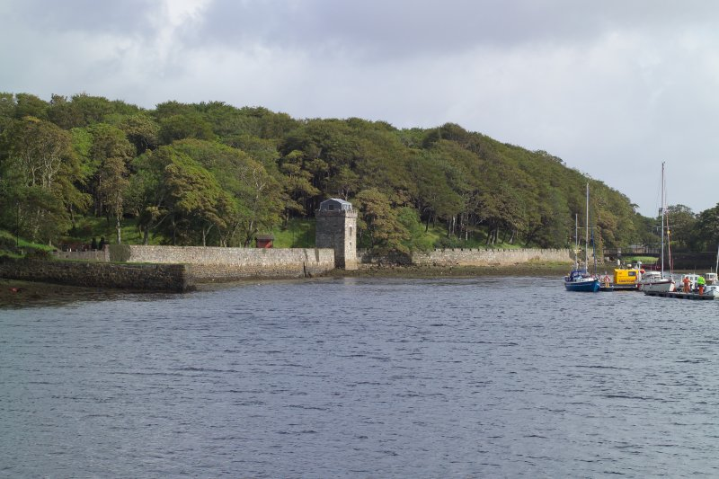 Sea wall and tower, general view from SE