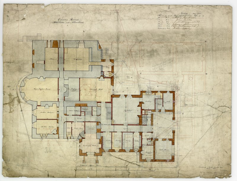Digital copy of plans of additions and alterations 1. For Capt Palmer Douglas.