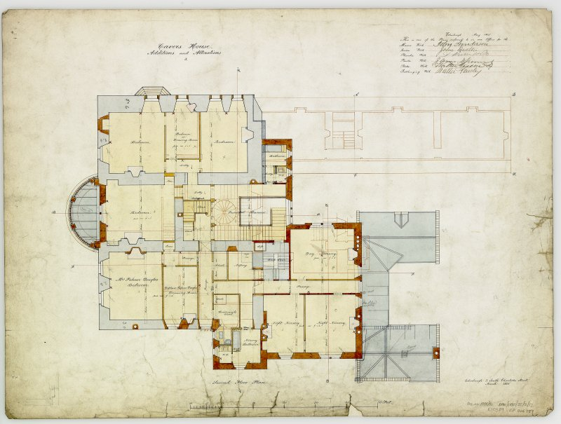 Digital copy of plans of additions and alterations 3. For Capt Palmer Douglas.