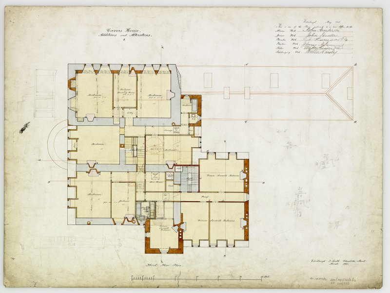 For Capt Palmer Douglas. Digital copy of plans of additions and alterations 4.