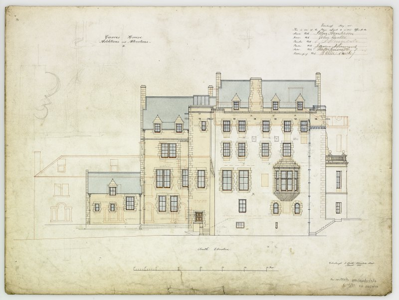 Digital copy of elevation of additions and alterations 11. For Capt Palmer Douglas.