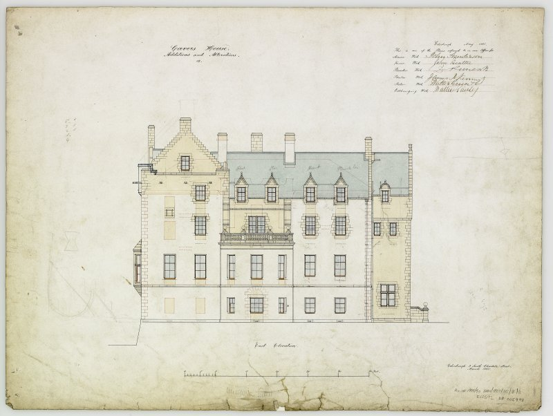 Digital copy of elevation of additions and alterations 12. For Capt Palmer Douglas.