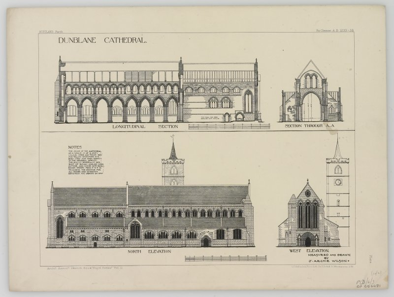 Digital image of drawing showing sections and elevations.