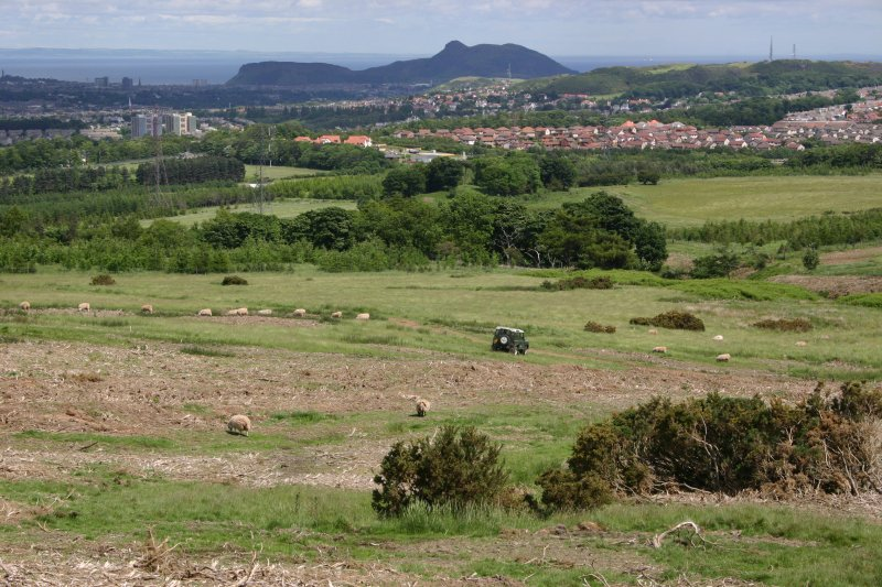 General view from SW, looking over Dreghorn Rifle Range towards Arthur's Seat