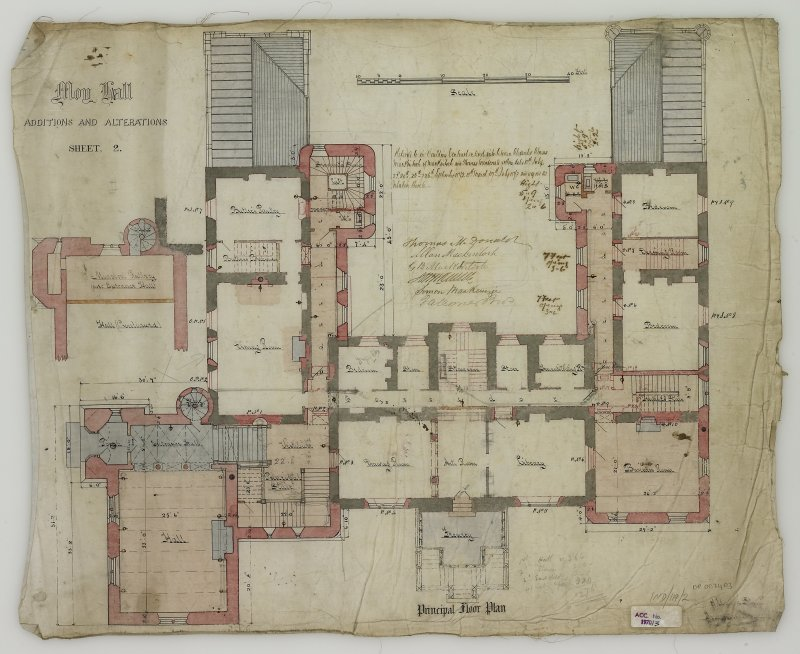 Additions and Alterations Sheet 2: Principal Floor Plan (Alexander Ross) 9 Union Street Inverness 1872