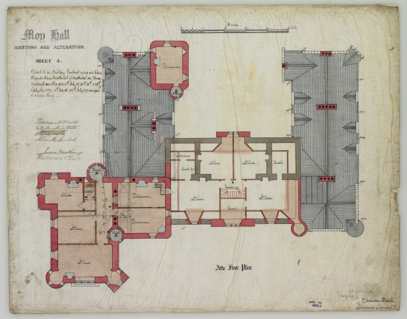 Additions and Alterations: Attic floor plan (Alexander Ross) 9 Union Street, Inverness 1872