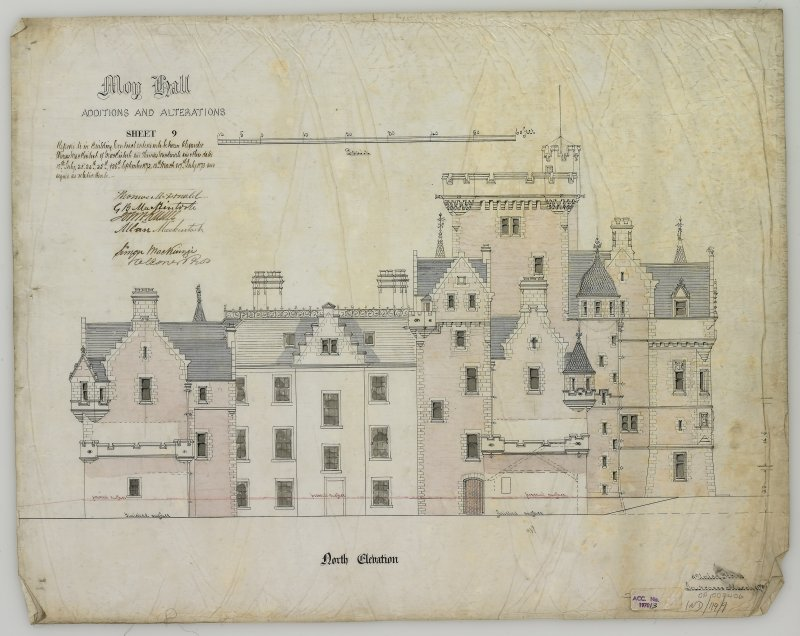 Digital copy of additions and Alterations: N.elevation (Alexander Ross) 9 Union Street, Inverness 1872