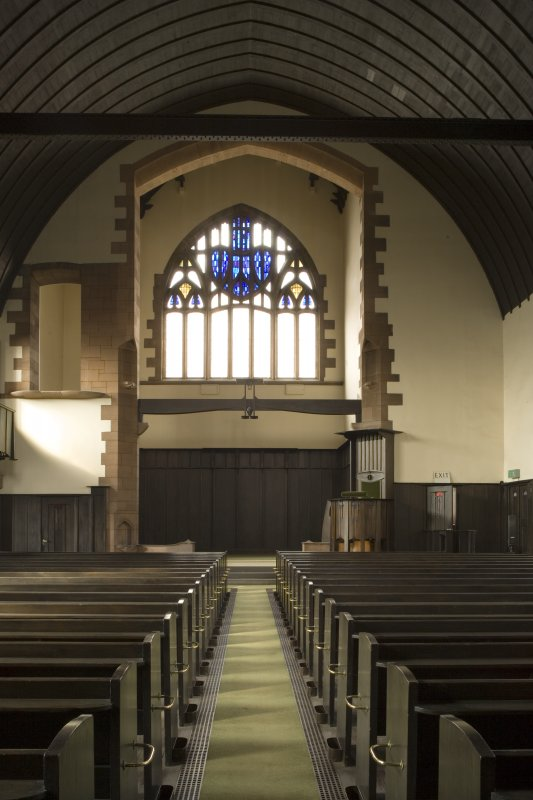 Interior view of Queen's Cross Church from the East.