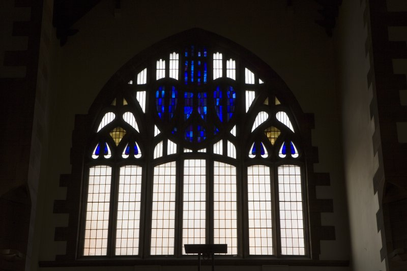 Interior. Detail of stained glass