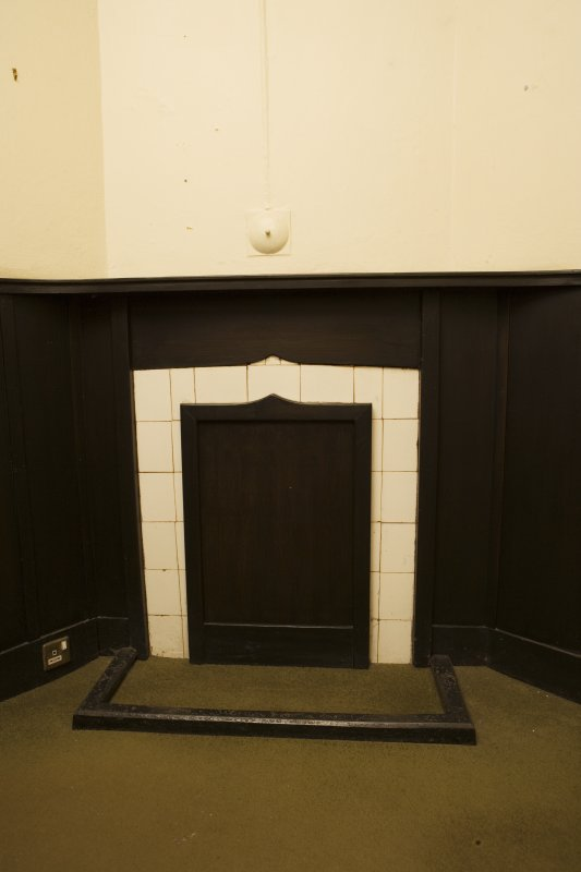Interior. Detail of vestry fireplace