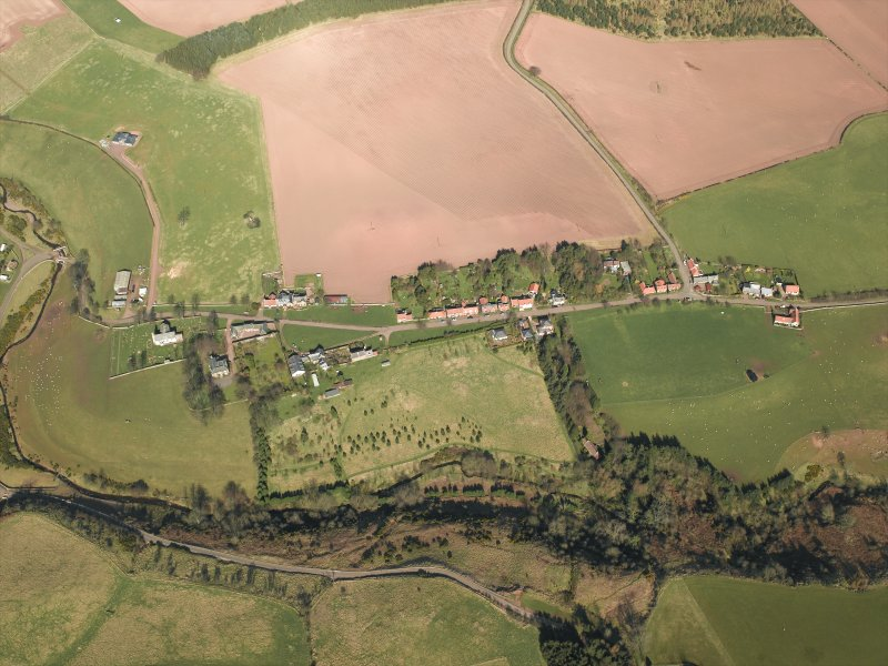 General oblique aerial view centred on the village, taken from the SSW.