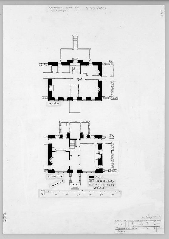 Publication drawing. Ardpatrick House; plans