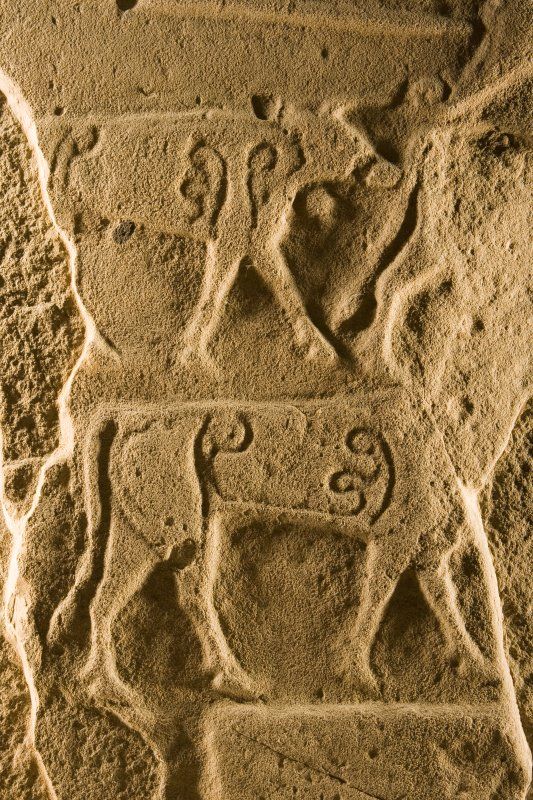 Face B. detail showing cattle symbols