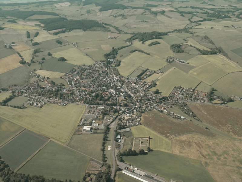 General oblique aerial view of the village, taken from the SSE.