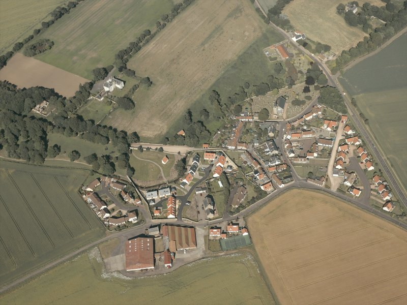 General oblique aerial view of the village, taken from the WNW.