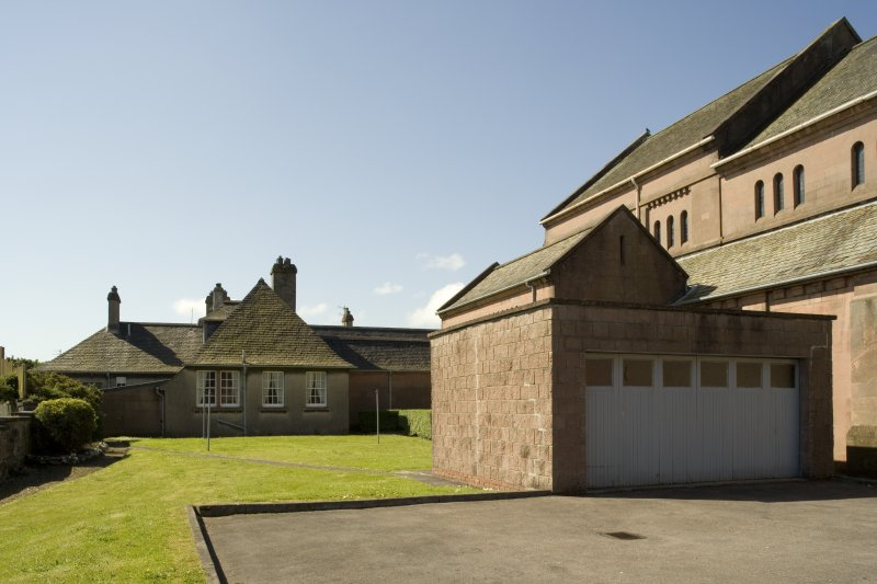Priest's House and garage, view from N