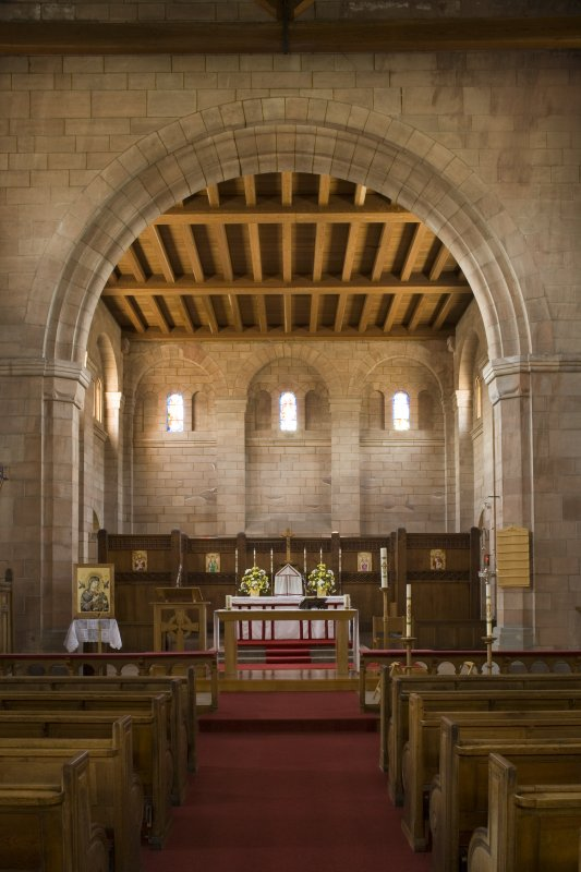 Interior. Chancel, view from N
